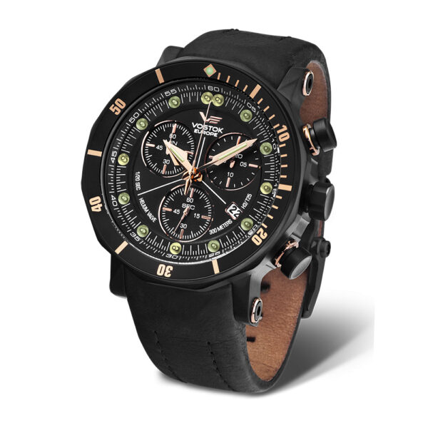 Vostok Europe Lunokhod-2 6S30-6203211 Leather Strap