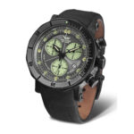 Vostok Europe Lunokhod 6S30-6204212 Black Leather Strap