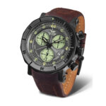 Vostok Europe Lunokhod 6S30-6204212 Brown Leather Strap