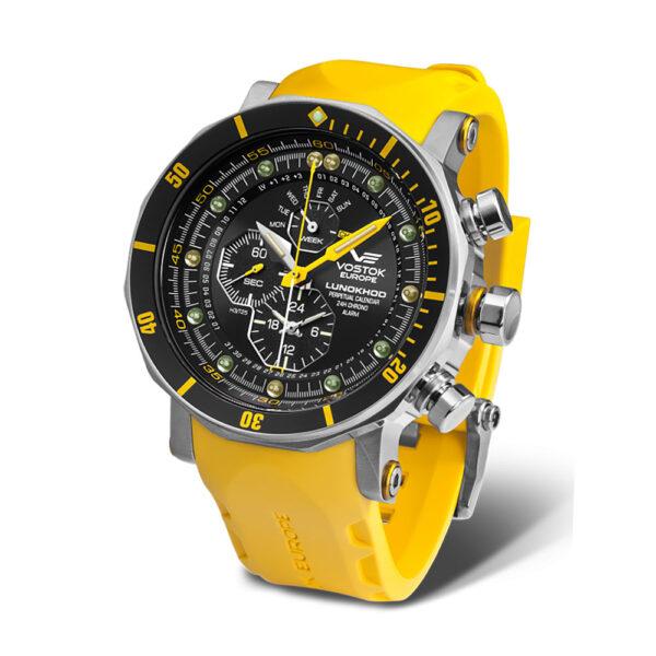 Vostok europe YM86-620A505 Yellow Silicon Strap