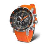 Vostok Europe Lunokhod-YM86-620A506-Orange-Silicon-Strap